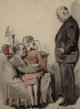 James Montgomery Flagg (American, 1877-1960) As Easy as Kiss Me Hand Watercolor on paper 28 x 21 in. (sight) Signed...