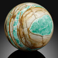 Lapidary Art:Eggs and Spheres, Variscite Sphere. Utah, USA. ...