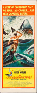 """Movie Posters:Adventure, The Sharkfighters (United Artists, 1956). Insert (14"""" X 36""""). Adventure.. ..."""