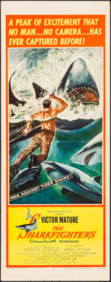 "The Sharkfighters (United Artists, 1956). Insert (14"" X 36""). Adventure"