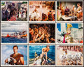 "Ben-Hur (MGM, R-1969). Color Photos (15) (8"" X 10""), & Cut Pressbook (16 Pages, 12.25"" X 17""). A..."