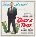 "Movie Posters:Crime, Once a Thief (United Artists, 1950). Six Sheet (79.5"" X 80"").Crime.. ..."