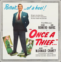 "Once a Thief (United Artists, 1950). Six Sheet (79.5"" X 80""). Crime"