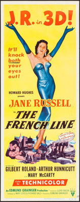 "The French Line (RKO, 1954). Insert (14"" X 36"") 3-D Style. Comedy"