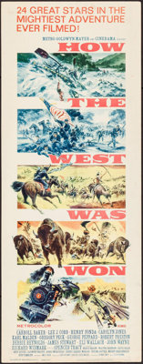 "How the West was Won (MGM, 1963). Insert (14"" X 36""). Reynold Brown Artwork. Western"