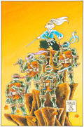 Original Comic Art:Covers, Stan Sakai TMNT/Usagi Yojimbo Signature Variant CoverOriginal Art (IDW, 2017)....