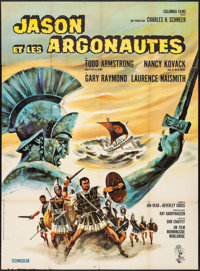"Jason and the Argonauts (Columbia, 1963). French Grande (45.5"" X 62"") Charles Rau Artwork. Fantasy"