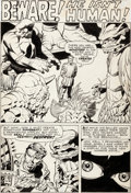 Original Comic Art:Panel Pages, Jack Kirby, Dick Ayers, and George Klein Journey IntoMystery #77 Story Page 1 Original Art (Marvel, 1962)....