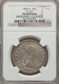 1805/4 50C O-102, T-5, R.3, -- Improperly Cleaned -- NGC Details. VG. NGC Census: (0/20). PCGS Population: (2/15). VG8...