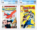 Modern Age (1980-Present):Humor, Smurfs #1 and Dazzler #38 Group (Marvel, 1982-85) Condition: CGCNM+ 9.6.... (Total: 2 Comic Books)