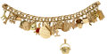 Estate Jewelry:Bracelets, Diamond, Citrine, Enamel, Gold Bracelet. ... (Total: 2 Items)