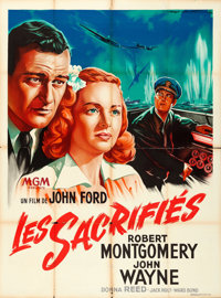"They Were Expendable (MGM, 1949). First Post-War Release French Grande (47"" X 63"") Roger Soubie Artwork"