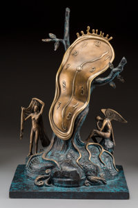 Salvador Dalí (Spanish, 1904-1989) Nobility of Time, 1984 Bronze with brown and greenish patina 2