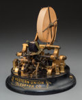 Other, An Edison Model 3-A Western Union Universal Stock Ticker Machine, late 19th century. Marks: UNIVERSAL TICKER 3-A, 22-OHMS...
