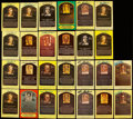 Autographs:Post Cards, Hall of Fame Yellow Post Card Plaque Signed Collection (109). . ...