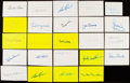 Autographs:Index Cards, Baseball Hall of Fame Signed Index Card Lot of 68.. ...