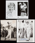 Autographs:Photos, Vintage Golf Photograph Lot of 5 with 3 Signed.. ...