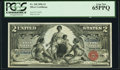 Large Size:Silver Certificates, Fr. 248 $2 1896 Silver Certificate PCGS Gem New 65PPQ.. ...
