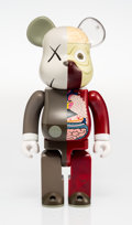 Fine Art - Sculpture, American:Contemporary (1950 to present), KAWS X BE@RBRICK. Dissected Companion 400%, 2008. Painted cast vinyl. 10-3/4 x 5-1/4 x 3-1/2 inches (27.3 x 13.3 x 8.9 c...