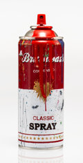 Fine Art - Sculpture, American:Contemporary (1950 to present), Mr. Brainwash (b. 1966). Spray Can (Red), 2013. Screenprintwith handcoloring on iron spray can. 7-5/8 x 2-5/8 x 2-5/8 i...