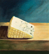Paul Wonner (1920-2008) Piece of Cheese, 1992 Lithograph with handcoloring on wove paper 7-5/8 x