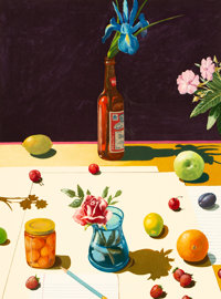 Paul Wonner (1920-2008) Still Life, 1992 Lithograph in colors on wove paper 29-5/8 x 21-7/8 inche