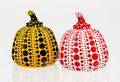 Fine Art - Sculpture, American:Contemporary (1950 to present), Yayoi Kusama (b. 1929). Red and Yellow Pumpkin (two works),2013. Painted cast resin, each. 4 x 3-1/4 x 3-1/4 inches (10...(Total: 2 Items)