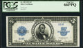 Serial Number 14 Fr. 282 $5 1923 Silver Certificate PCGS Gem New 66PPQ