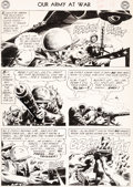 Original Comic Art:Panel Pages, Joe Kubert Our Army At War #109 Story Page 4 Original Art (DC, 1961)....