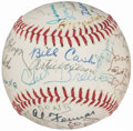 Autographs:Baseballs, 1981 Negro League Players Reunion Multi-Signed Baseball (39Signatures) with Satchel Paige & Hilton Smith.. ...