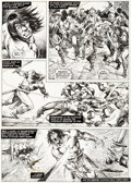 Original Comic Art:Panel Pages, John Buscema and Alfredo Alcala The Savage Sword of Conan#20 Story Page 31 Original Art (Marvel, 1977)....