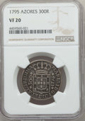 Azores, Azores: Pair of Certified Portuguese Administration Reis,...(Total: 2 coins)