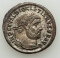 Ancients:Ancient Lots , Ancients: ANCIENT LOTS. Roman Imperial. Lot of four (4) coins:three (3) AR antoniniani, one (1) silvered follis. VF-XF....(Total: 4 coins)