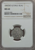 Chile, Chile: Republic Real 1842 So-IJ MS64 NGC,...