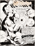Original Comic Art:Splash Pages, Mike Sekowsky and George Roussos Atom #38 Splash Page 1Original Art (DC, 1968)....