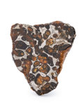 "Meteorites:Palasites, Sericho Meteorite End Cut. Pallasite. Kenya - (1°5'41.16""N,39°6'8.30""E). Found: 2016. 2.52 x 2.28 x 0.51 inches (6.41 x5..."