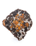 "Meteorites:Palasites, Sericho Meteorite End Cut. Pallasite. Kenya - (1°5'41.16""N,39°6'8.30""E). Found: 2016. 2.11 x 2.07 x 0.54 inches (5.36 x5..."