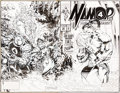 Original Comic Art:Covers, Geof Isherwood Namor, the Sub-Mariner #50 Wrap-Around Cover Original Art (Marvel, 1994)....