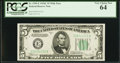 Small Size:Federal Reserve Notes, Fr. 1959-E $5 1934C Wide Federal Reserve Note. PCGS Very Choice New 64.. ...