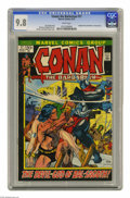 "Bronze Age (1970-1979):Miscellaneous, Conan the Barbarian #17 (Marvel, 1972) CGC NM/MT 9.8 White pages.Adapted from (non-Conan) story ""The Gods of Bal-Sagoth"" by..."