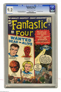 Silver Age (1956-1969):Superhero, Fantastic Four #7 (Marvel, 1962) CGC NM- 9.2 Off-white to whitepages. The Fantastic Four, fleeing Earth? This was the first...