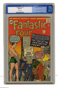 Fantastic Four #9 (Marvel, 1962) CGC NM 9.4 Off-white pages. Oh, the indignity of this issue, as the FF are evicted from...