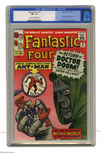 Fantastic Four #16 (Marvel, 1963) CGC NM- 9.2 Off-white to white pages. Doctor Doom's fourth appearance in this series h...