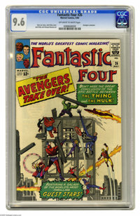 Fantastic Four #26 (Marvel, 1964) CGC NM+ 9.6 Off-white to white pages. The conclusion of the first Hulk versus Thing ba...