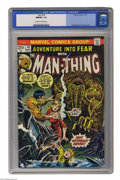 Bronze Age (1970-1979):Horror, Fear #18 (Marvel, 1973) CGC NM/ MT 9.8 Off-white to white pages.Features the Man-Thing. Overstreet 2005 NM- 9.2 value = $16...