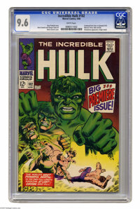 The Incredible Hulk #102 (Marvel, 1968) CGC NM+ 9.6 White pages. In Marvel's big expansion of 1968, several characters w...