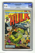 Bronze Age (1970-1979):Superhero, The Incredible Hulk #180 (Marvel, 1974) CGC NM+ 9.6 Off-white towhite pages. Super-nice copy of the issue that featured the...