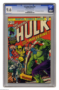 The Incredible Hulk #181 (Marvel, 1974) CGC NM+ 9.6 Off-white to white pages. Here's the most valuable comic book of the...