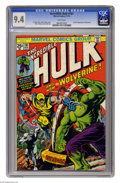 Bronze Age (1970-1979):Superhero, The Incredible Hulk #181 (Marvel, 1974) CGC NM 9.4 White pages. Theultimate book of the 1970s features the first full appea...