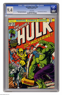 The Incredible Hulk #181 (Marvel, 1974) CGC NM 9.4 White pages. The ultimate book of the 1970s features the first full a...